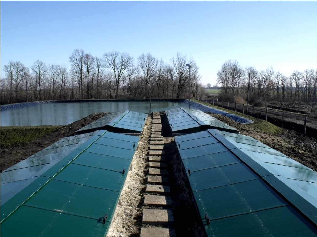 Waste water treatment plant construction references
